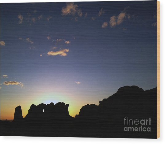 Moab Sunset Wood Print