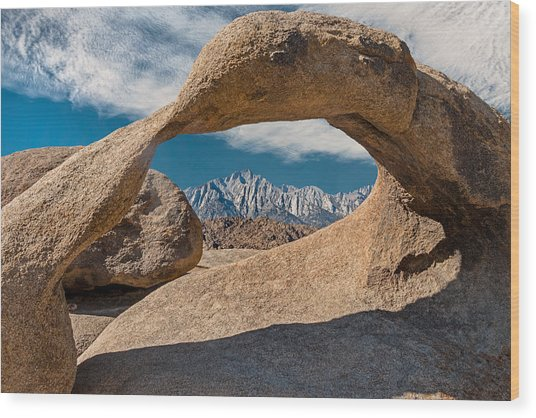 Mobius Arch And Whitney Wood Print