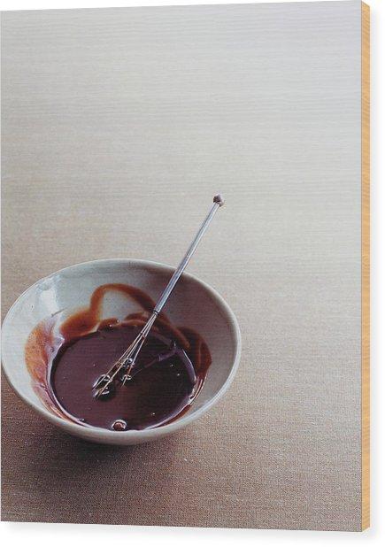 Mocha Caramel Sauce Wood Print