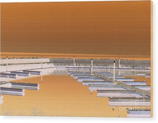 Mocha Dock Wood Print