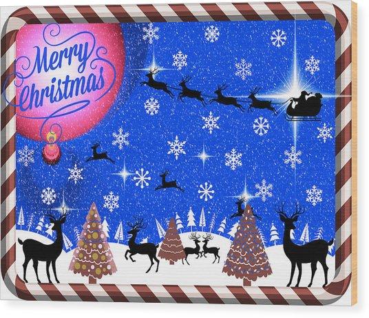 Mod Cards - Reindeer Games - Merry Christmas IIi Wood Print