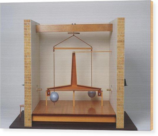 Model Of A Gravitational Experiment Wood Print by Dorling Kindersley/uig