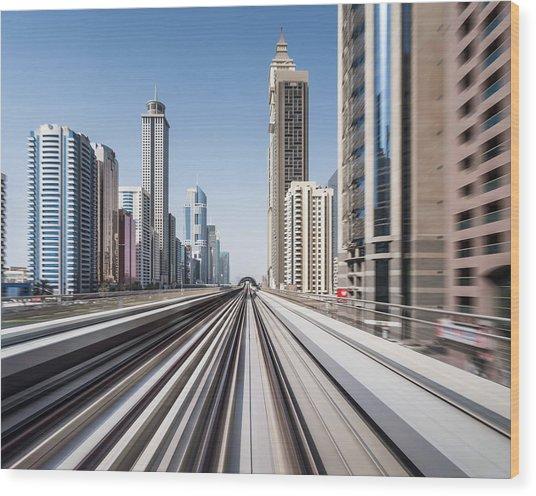 Modern Dubai Wood Print by Yongyuan Dai