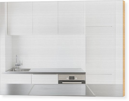 Modern Kitchen Wood Print by Westend61