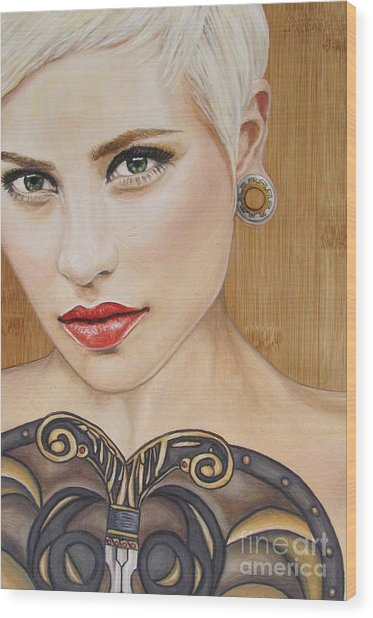Modern Warrior Beauty Wood Print