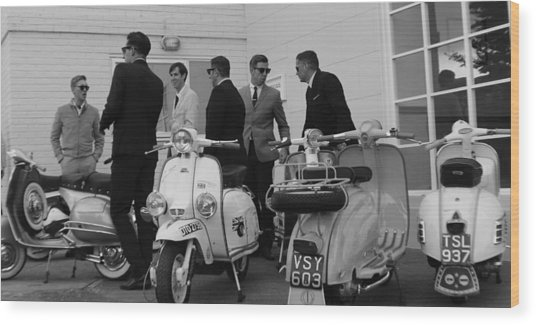 Mods And Suits Wood Print