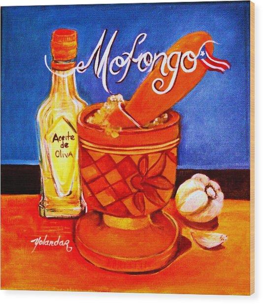 Mofongo En El Pilon  Wood Print