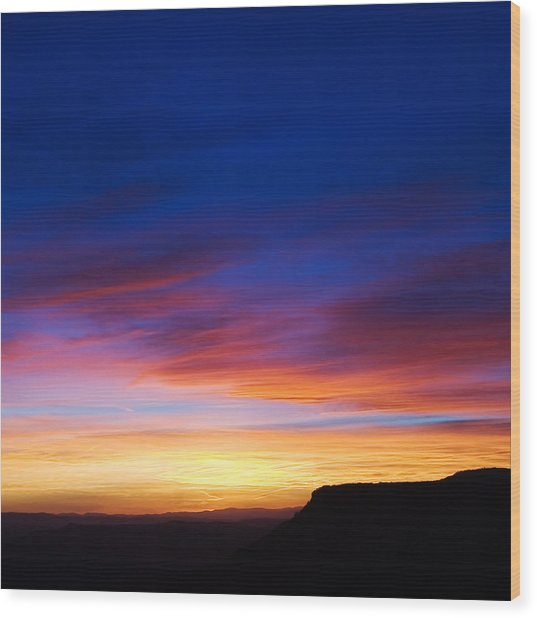 Mogollon Rim Afterglow Wood Print