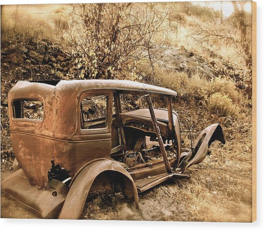 Mogollon Truck Wood Print