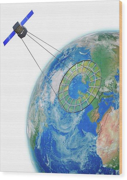 Moire Spy Satellite Wood Print