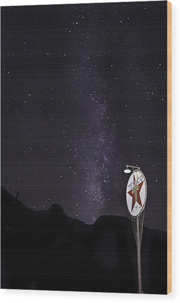 Wood Print featuring the photograph Mojave Milky Way 3 by James Sage
