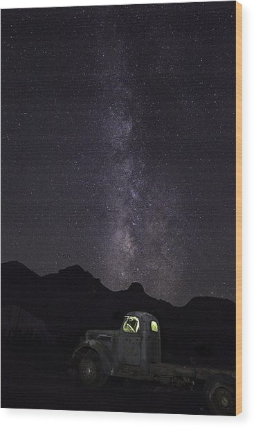 Wood Print featuring the photograph Mojave Milky Way by James Sage