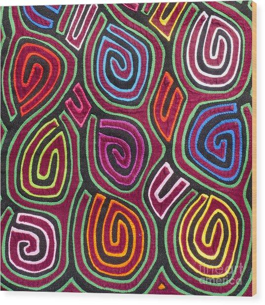 Mola Art Wood Print