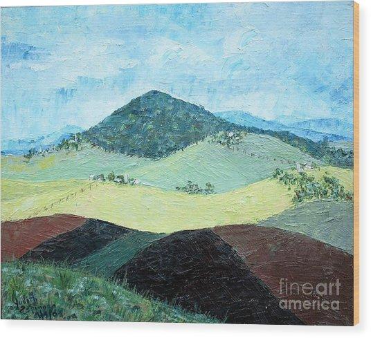 Mole Hill - Sold Wood Print by Judith Espinoza
