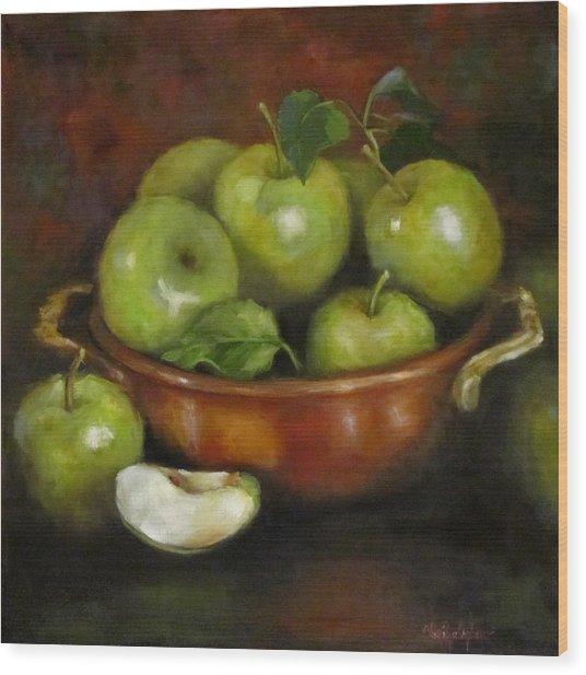 Mom's Last Apple Harvest Wood Print
