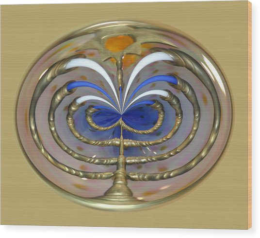 Mom's Menorah  Wood Print