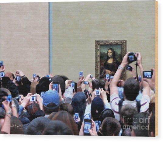 Mona Mobbed Wood Print