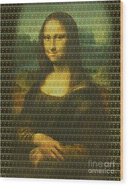 Mona Mosaic Wood Print