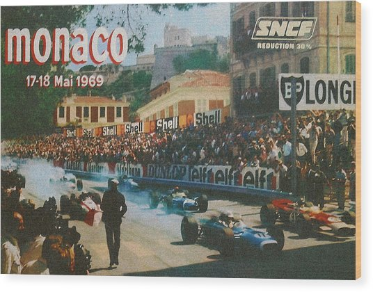 Monaco 1969 Wood Print