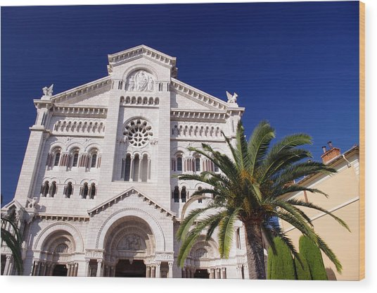 Monaco Cathedral Wood Print by Ioan Panaite