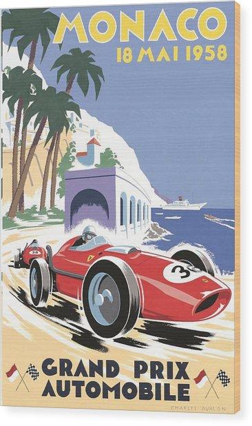 Monaco Grand Prix 1958 Wood Print
