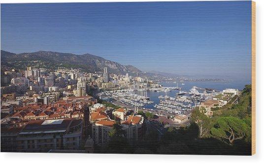 Monaco Wood Print by Ioan Panaite