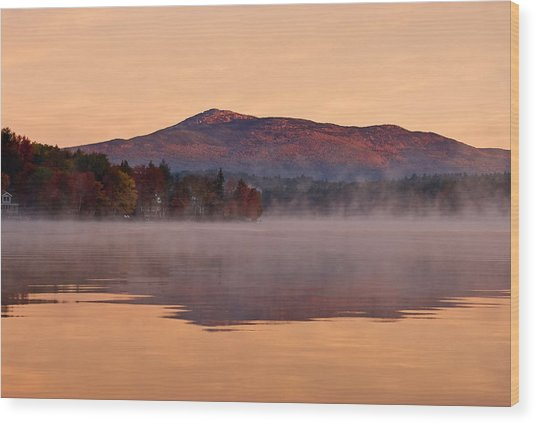 Monadnock Sunrise Wood Print