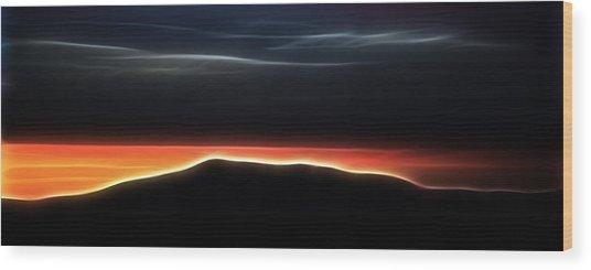 Monadnock Sunset Wood Print