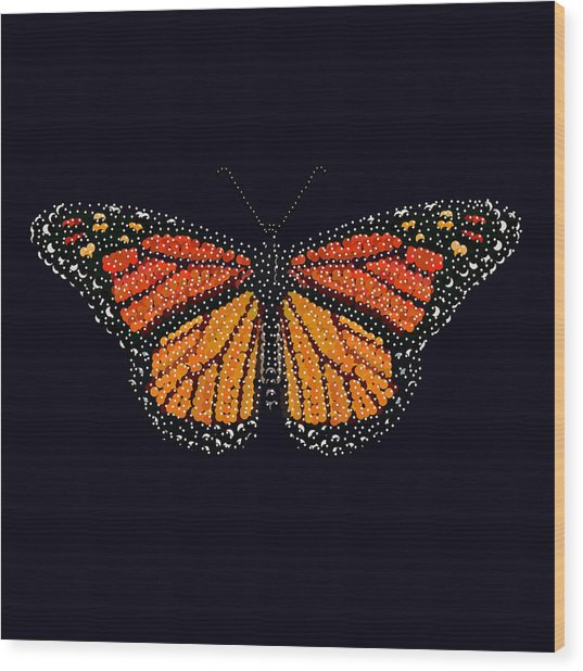 Monarch Butterfly Bedazzled Wood Print
