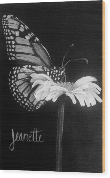 Monarch On A Daisy Wood Print