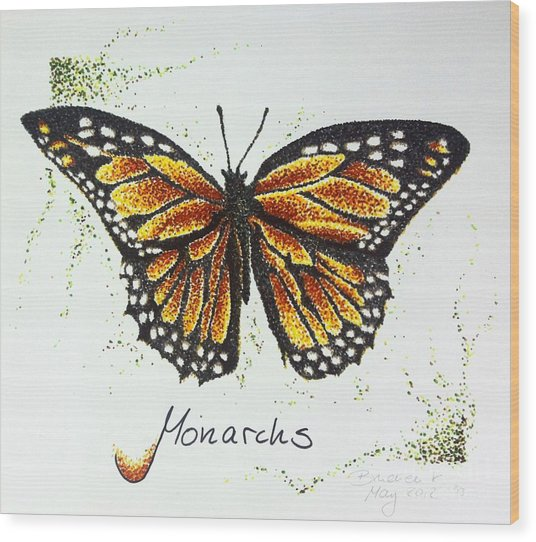 Monarchs - Butterfly Wood Print