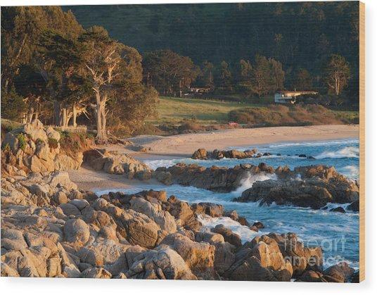 Monastery Beach In Carmel California Wood Print