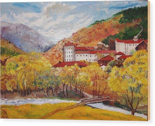 Monastery Wood Print