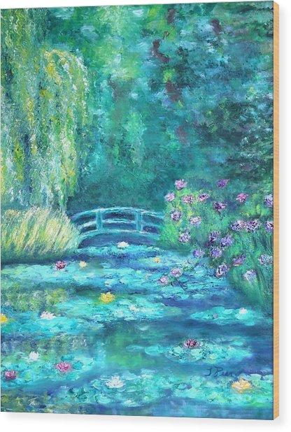 Monet Bridge Dream Wood Print