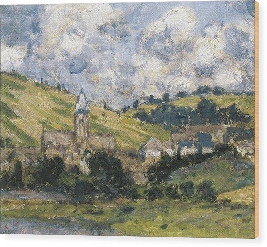 Monet, Claude 1840-1926. Landscape Wood Print by Everett