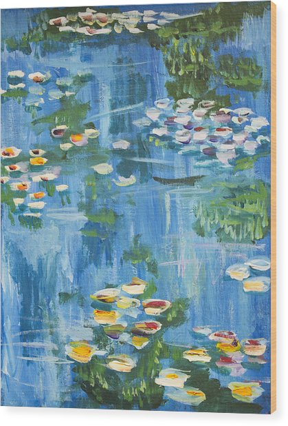 Monet Water Lilies Wood Print