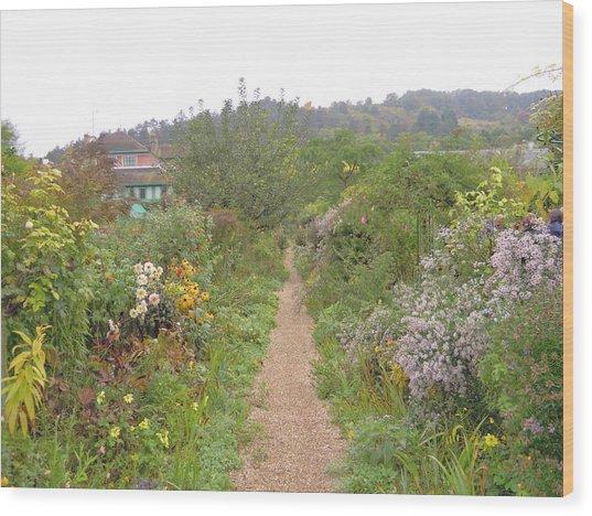 Monet's Garden 5 Wood Print
