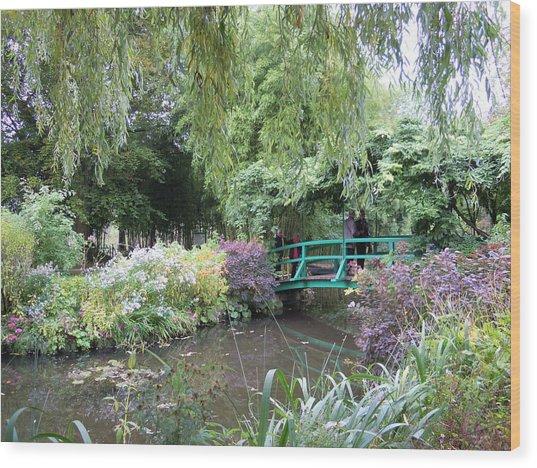 Monet's Japanese Bridge Wood Print