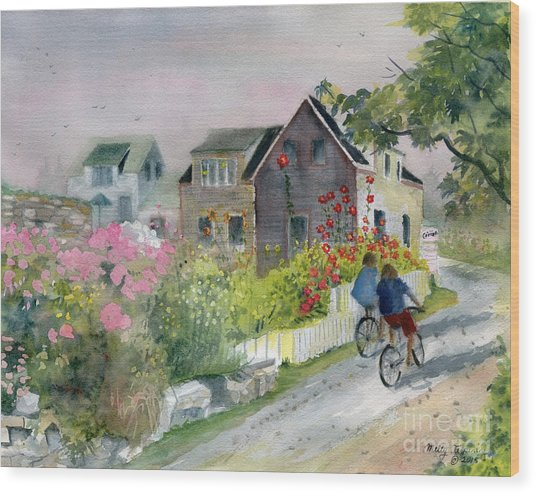 Monhegan In August Wood Print