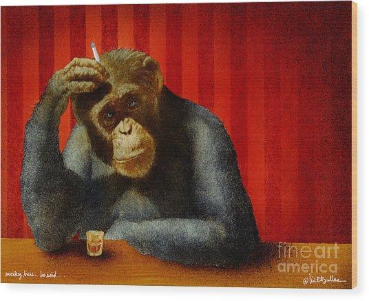 Monkey Bars...he Said... Wood Print by Will Bullas