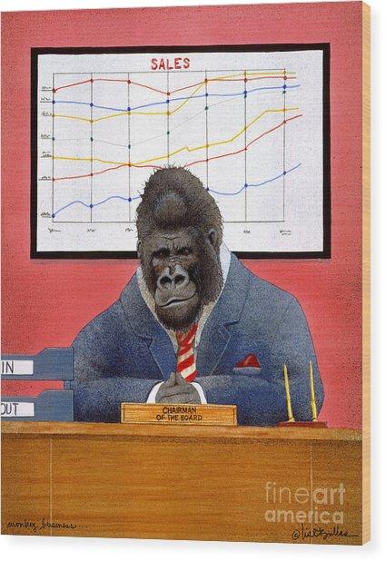 Monkey Business... Wood Print