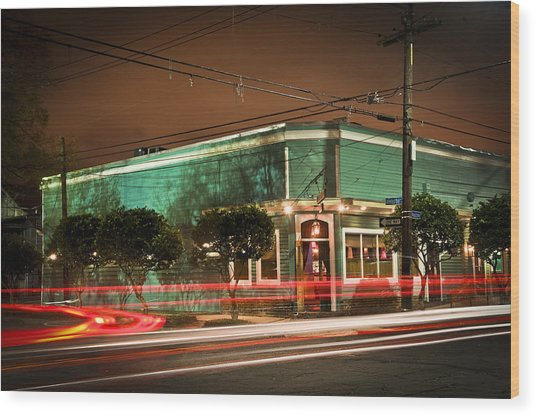 Monkey Hill Bar In Uptown New Orleans Wood Print