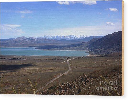 Mono Lake And The Sierra Nevada Wood Print