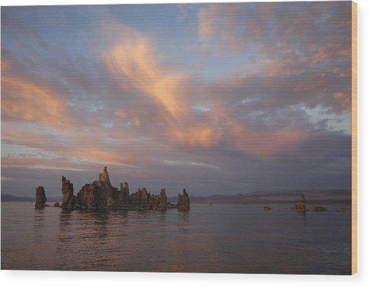 Mono Lake At Sunset Wood Print