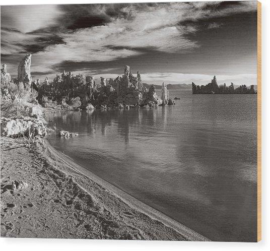 Mono Lake South Towers Wood Print
