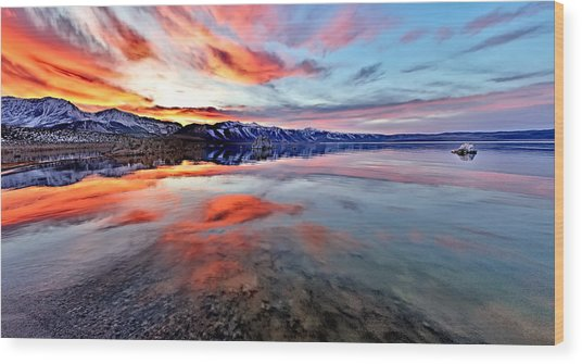 Mono Lake Sunset 2 Wood Print