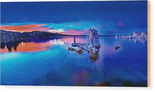 Mono Lake Sunset Wood Print