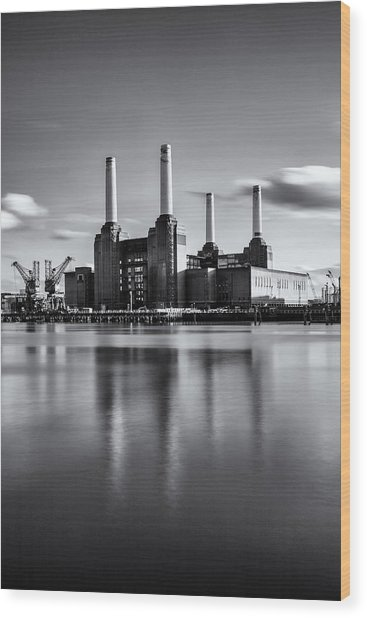 Mono Power Station Wood Print