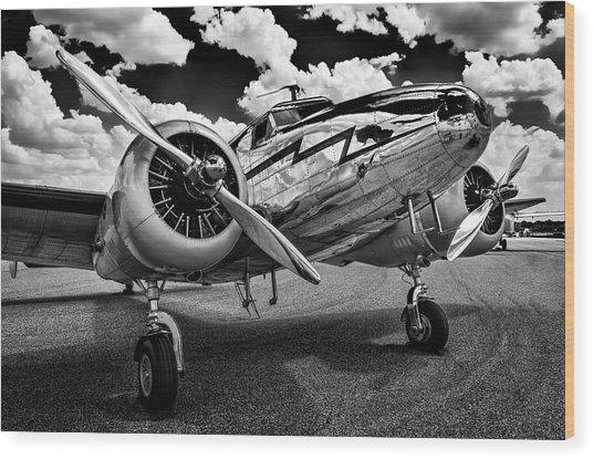 Monochrome Electra Wood Print
