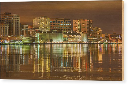 Monona Terrace Madison Wisconsin Wood Print